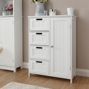 white shaker bathroom unit