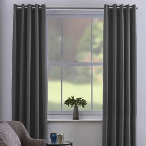 Chester Grey Thermal Eyelet Curtains