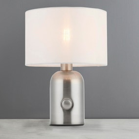 Ginelli Satin Nickel Touch Lamp