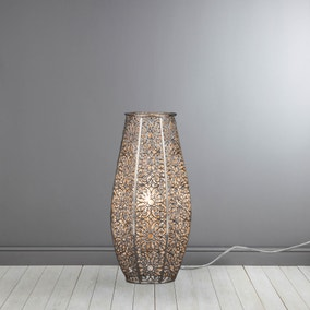 Nickel Lacework Table Lamp