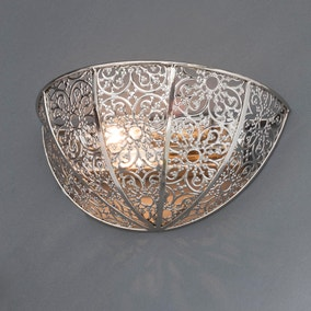 Nickel Lacework Wall Light