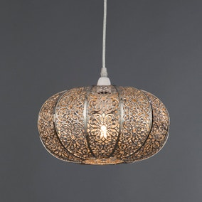 Nickel Lacework Easy Fit Light Fitting