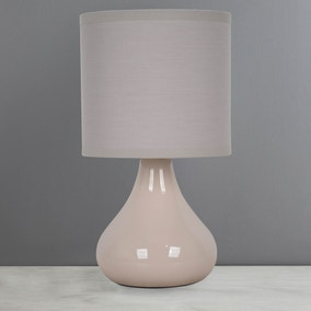 Blake Taupe Table Lamp