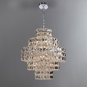 Clares Chrome 5 Tier Ceiling Fitting