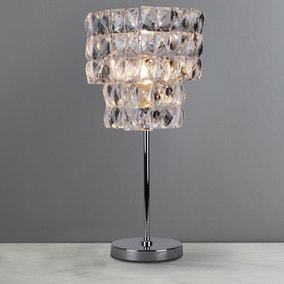 Clares Chrome 2 Tier Table Lamp