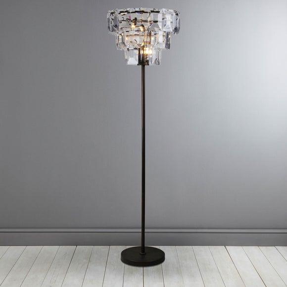 Claro Bronze 3 Tier Floor Lamp | Dunelm