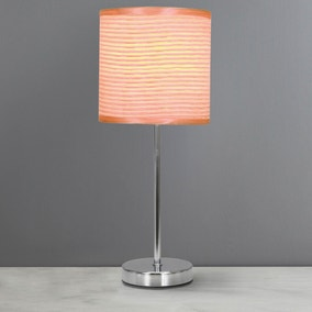 Peach Ripple Table Lamp