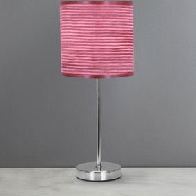 Dusky Pink Ripple Table Lamp