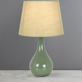 Ruby Forest Green Table Lamp