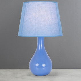 Ruby Periwinkle Blue Table Lamp