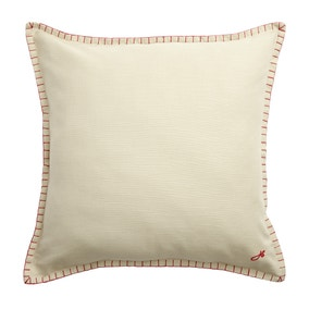 Jan Constantine Large Cream Blanket Stitch Cushion