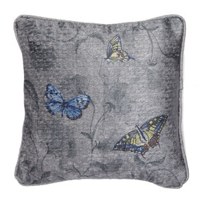 Harris & Hatherly by Jane Abbott Small Butterfly and Sweetpea Cushion