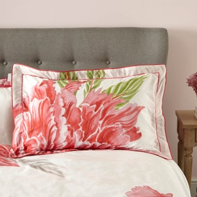 Harris & Hatherly by Jane Abbott Peony Digitally Printed 100% Cotton Oxford Pillowcase Pair