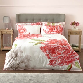 Harris & Hatherly by Jane Abbott Peony Digitally Printed 100% Cotton Duvet Cover and Pillowcase Set