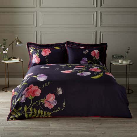 Harris Hatherly By Jane Abbott Sweet Pea Digitally Printed 100 Cotton Duvet Cover And
