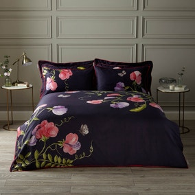 Harris & Hatherly by Jane Abbott Sweet Pea Digitally Printed 100% Cotton Duvet Cover and Pillowcase Set