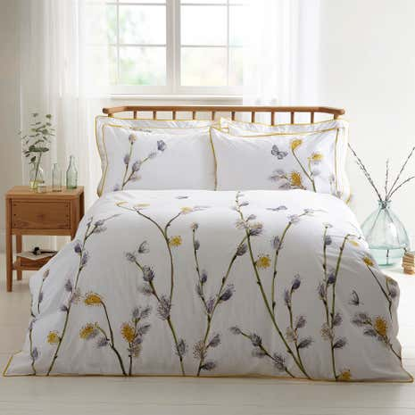 Harris & Hatherly by Jane Abbott Willow Digitally Printed 100% Cotton Duvet Cover and Pillowcase Set