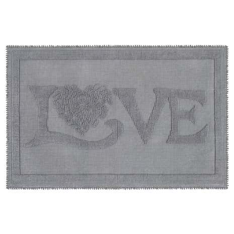 Jan Constantine Classic Love Grey Bath Mat