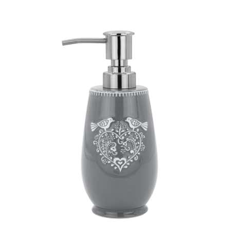Jan Constantine Love Birds Grey Lotion Dispenser