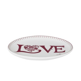Classic Love Red Ceramic Trinket Tray