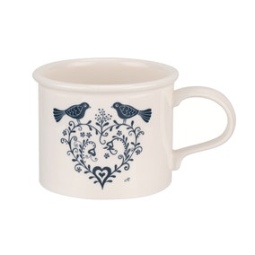 Jan Constantine and Portmeirion Love Birds Blue Mug