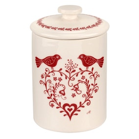 Jan Constantine made by Portmeirion Love Birds Red Tea Canister