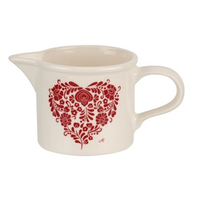 Jan Constantine made by Portmeirion Heart Red Creamer Jug