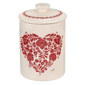 Jan Constantine made by Portmeirion Heart Red Sugar Canister