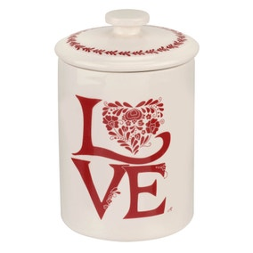 Jan Constantine made by Portmeirion Love Red Coffee Canister