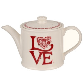 Jan Constantine made by Portmeirion Love Red Teapot