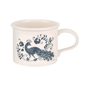 Jan Constantine and Portmeirion Peacock Blue Mug