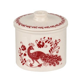 Jan Constantine made by Portmeirion Peacock Red Sugar Bowl
