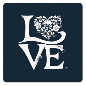 Jan Constantine Pack of 4 Blue Love Coasters