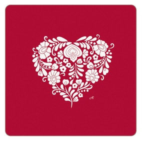 Jan Constantine Pack of 4 Red Love Heart Coasters