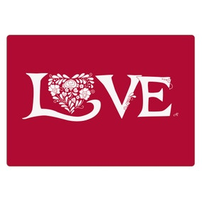 Jan Constantine Pack of 4 Red Love Placemats