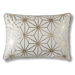 Diamond Gold Geometric Cushion