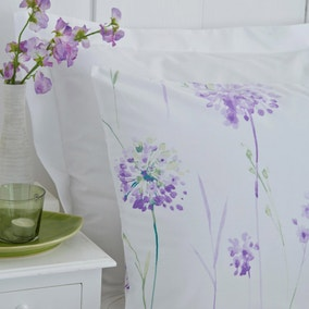 Kendall Lilac Floral Pair of Standard Pillowcases