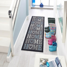 Marvel Grey Home Washable Runner