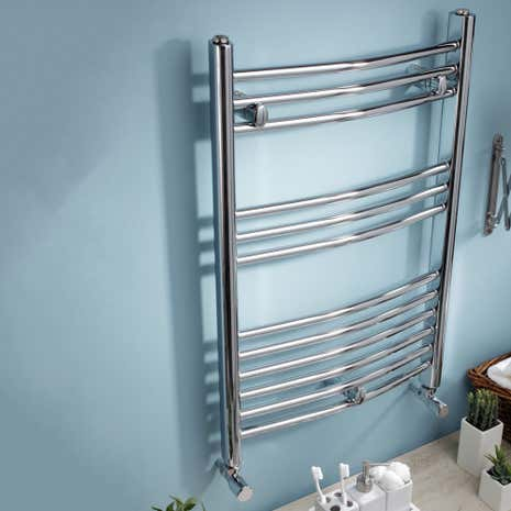 Wide Curved Towel Radiator