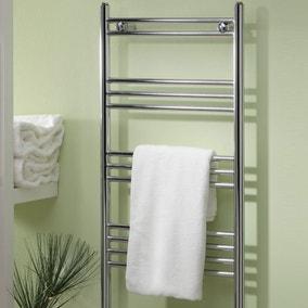 wide straight towel radiator