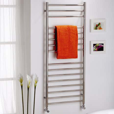 Alara Polished Chrome Straight Electric Towel Radiator