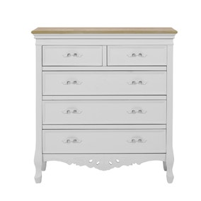 Camille Grey 5 Drawer Chest