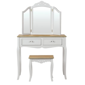 Camille Grey Dressing Table Set