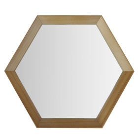 Elements Hexagonal Hanging Mirror