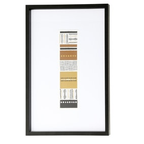 Elements Rectangle Framed Print
