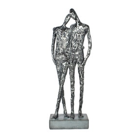 Pewter Resin Couple Sculpture