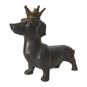 Dachshund with Gold Crown Ornament