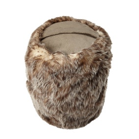 Natural Faux Fur Door Stop