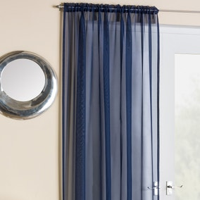 Crystal Navy Voile Panels