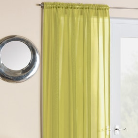 Crystal Lime Voile Panels